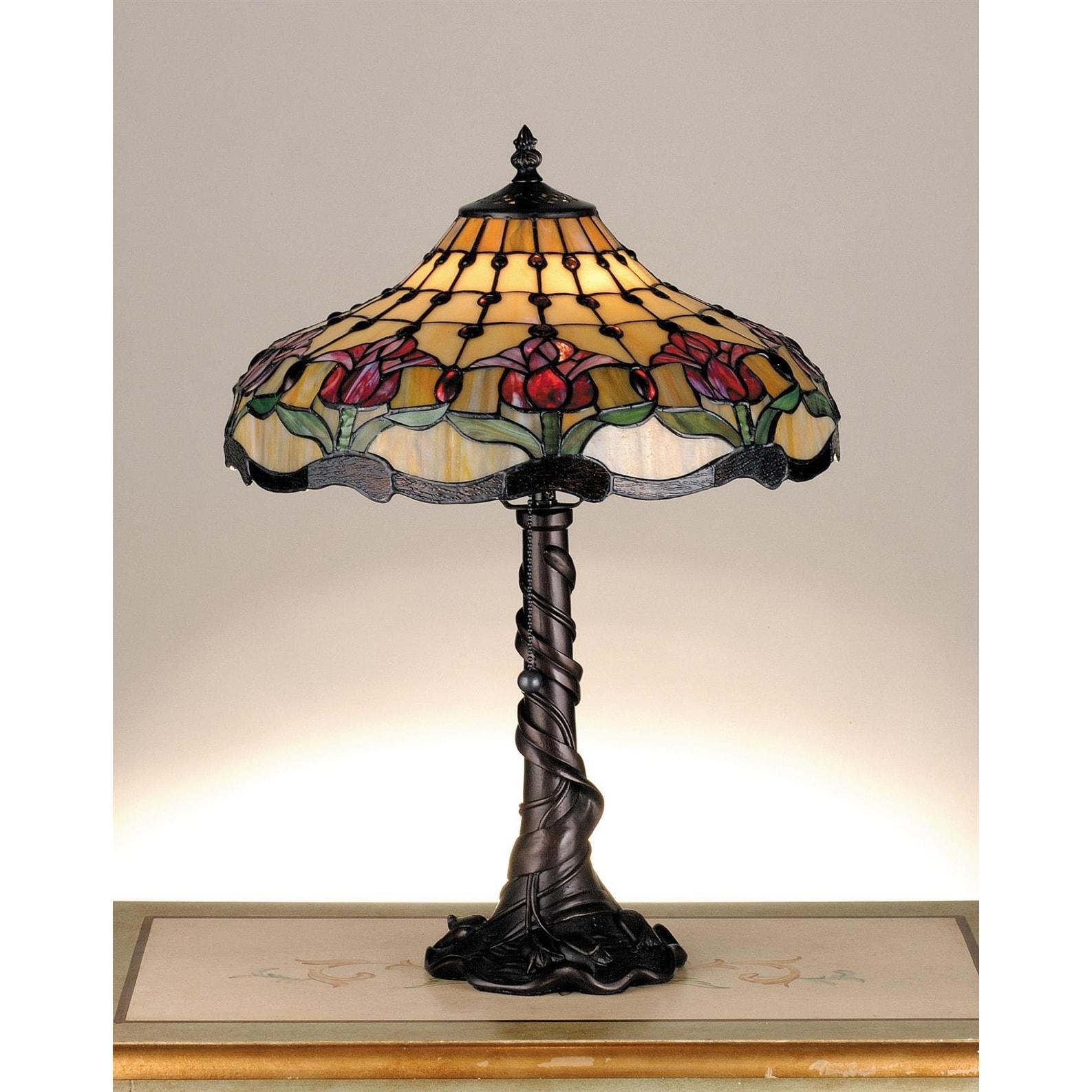 Shop Meyda Tiffany 1 Light Table Lamp With Tiffany Accent