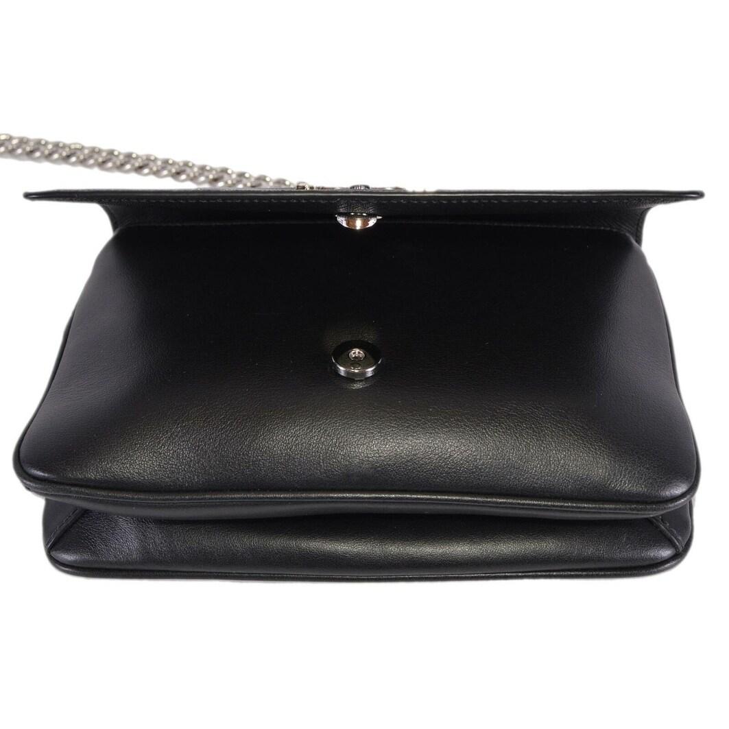5a4bda0cb940f2 Shop Prada 1BD144 Pattina Soft Calf Saffiano Leather Crossbody Small Chain  Purse - Black - Free Shipping Today - Overstock - 27461865