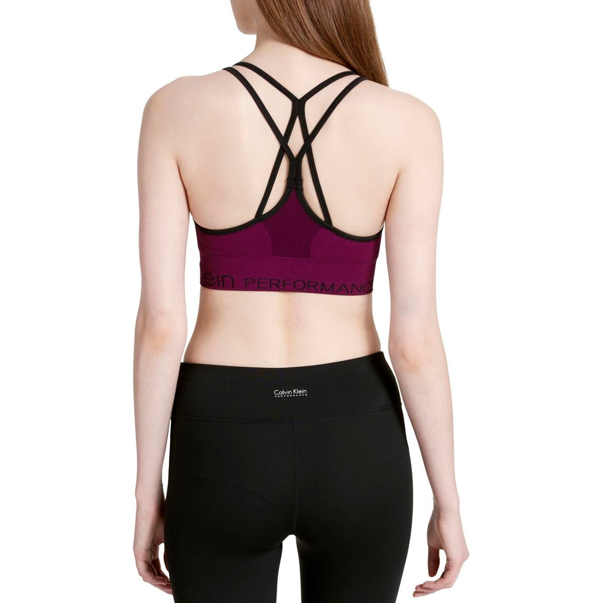 Shop Calvin Klein Performance Womens Sports Bra Low Impact Strappy - Free  Shipping On Orders Over  45 - Overstock - 19528855 5f4b92c25