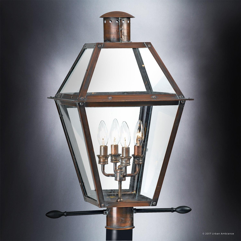 Luxury Historic Outdoor Post Light 26 H X 17 W