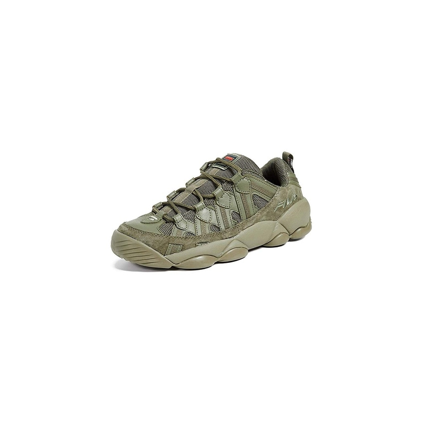 da51dd0e0d9ed Shop Fila Men's Spaghetti Low Sneakers - Drygrass - Free Shipping On ...