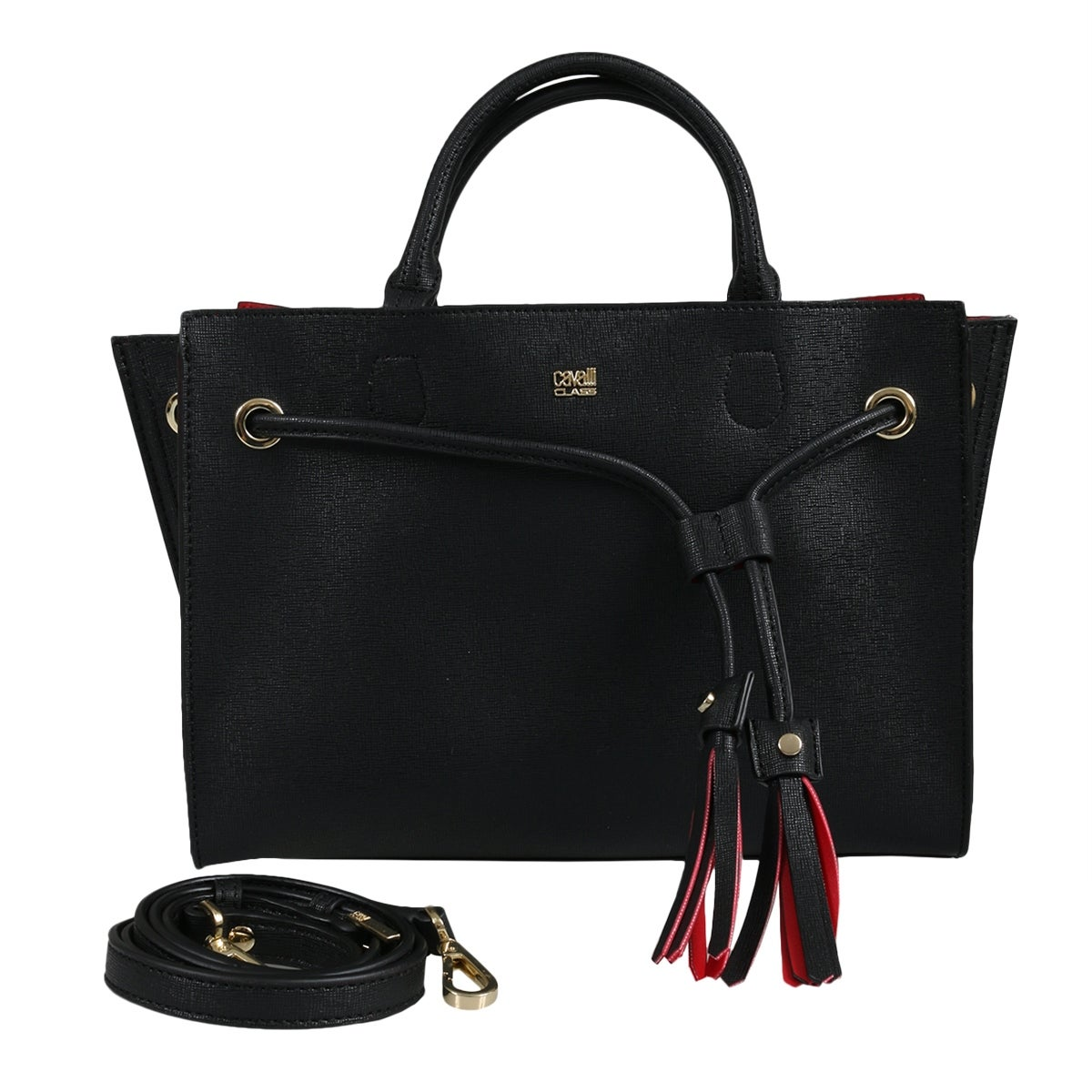 92ad9b2c8 Shop Roberto Cavalli HXLPGQ 999 Black Satchel Bag - 11.5-8-5.5 - Free  Shipping Today - Overstock - 25601682