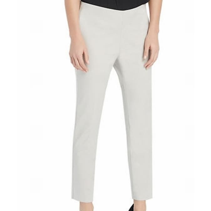 Ellen Tracy New Gray Womens Size 16 Flat Front Ankle Dress Pants Free Shipping On Orders Over 45 26079314