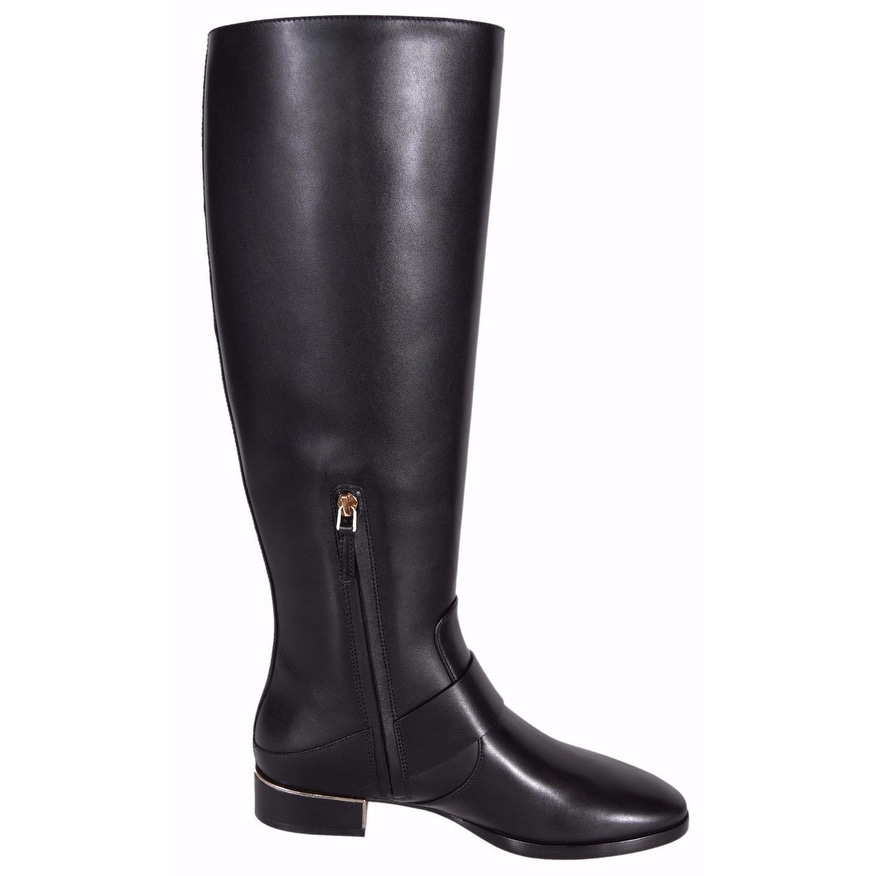 18335128ed3e2 Shop Tory Burch Women s Black Leather Sofia Knee High T Logo Riding Boots 6  - On Sale - Free Shipping Today - Overstock - 19469400