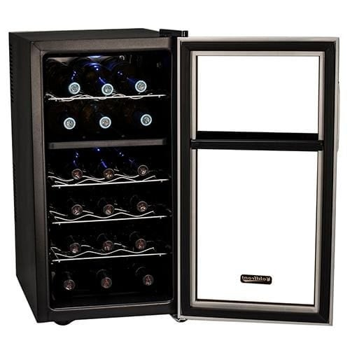 Koldfront Twr181e 14 Inch Wide 18 Bottle Wine Cooler With Dual Thermoelectric Cooling Zones Free Shipping Today 20922234