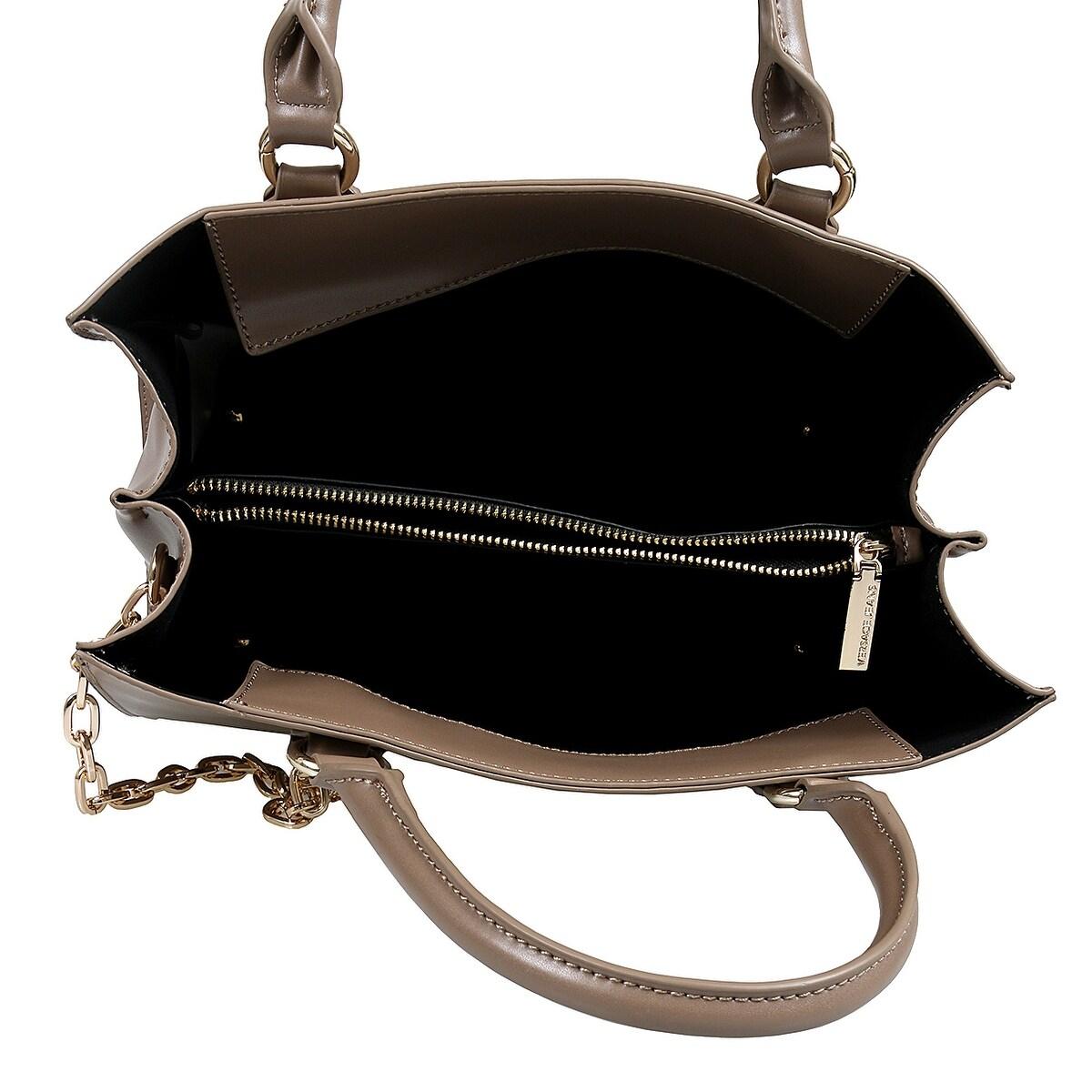 f8a987393b97 Versace EE1VSBBG7 EMDU Taupe Satchel Bag - 12.25-8.25-6