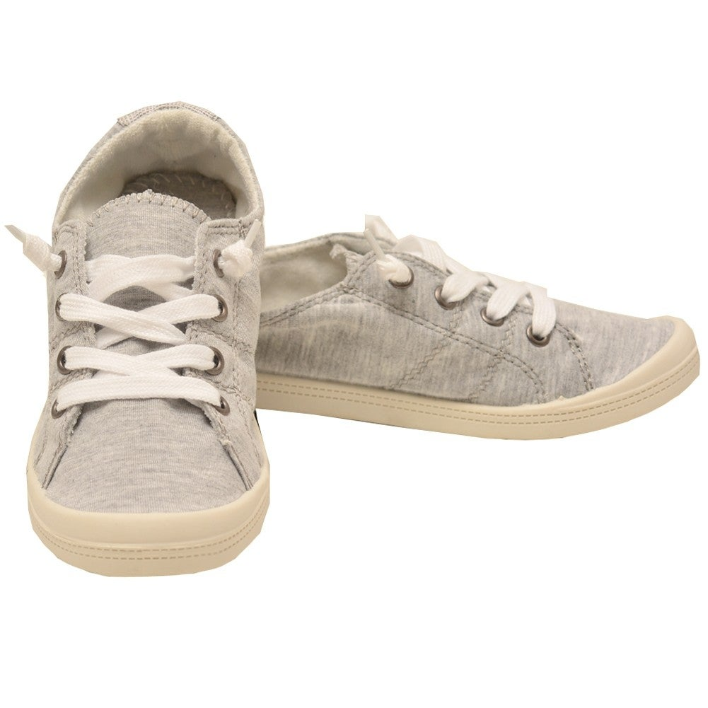 cc0cb93b716 Shop Forever Link Adult Light Gray Lace-Up Comfort Casual Sneaker Shoes  Womens - Free Shipping On Orders Over  45 - Overstock - 19292678