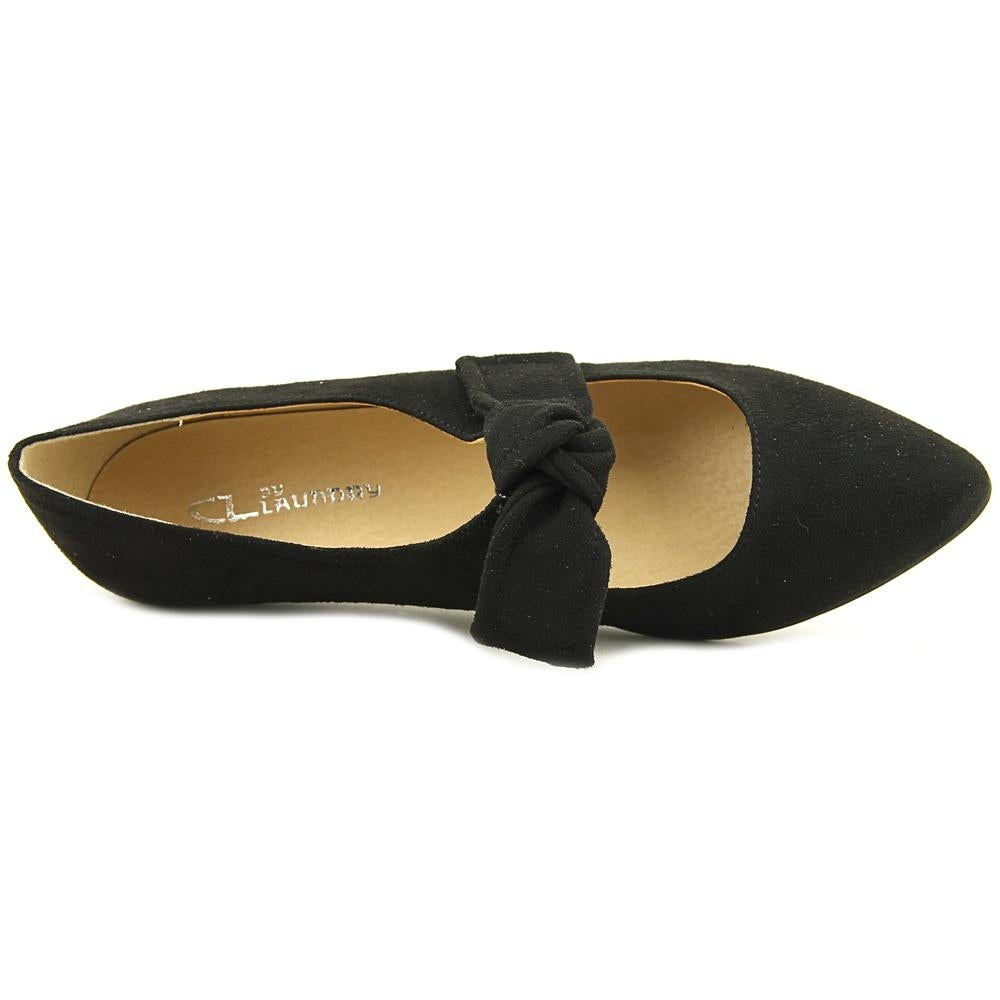 ec1735d9461ff CL By Laundry Singer Women Pointed Toe Synthetic Black Flats