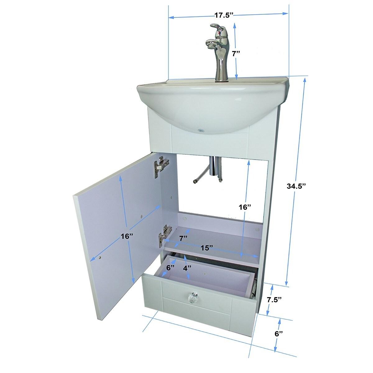 Shop Renovator\'s Supply Small White Vitreous China Bathroom Vanity ...