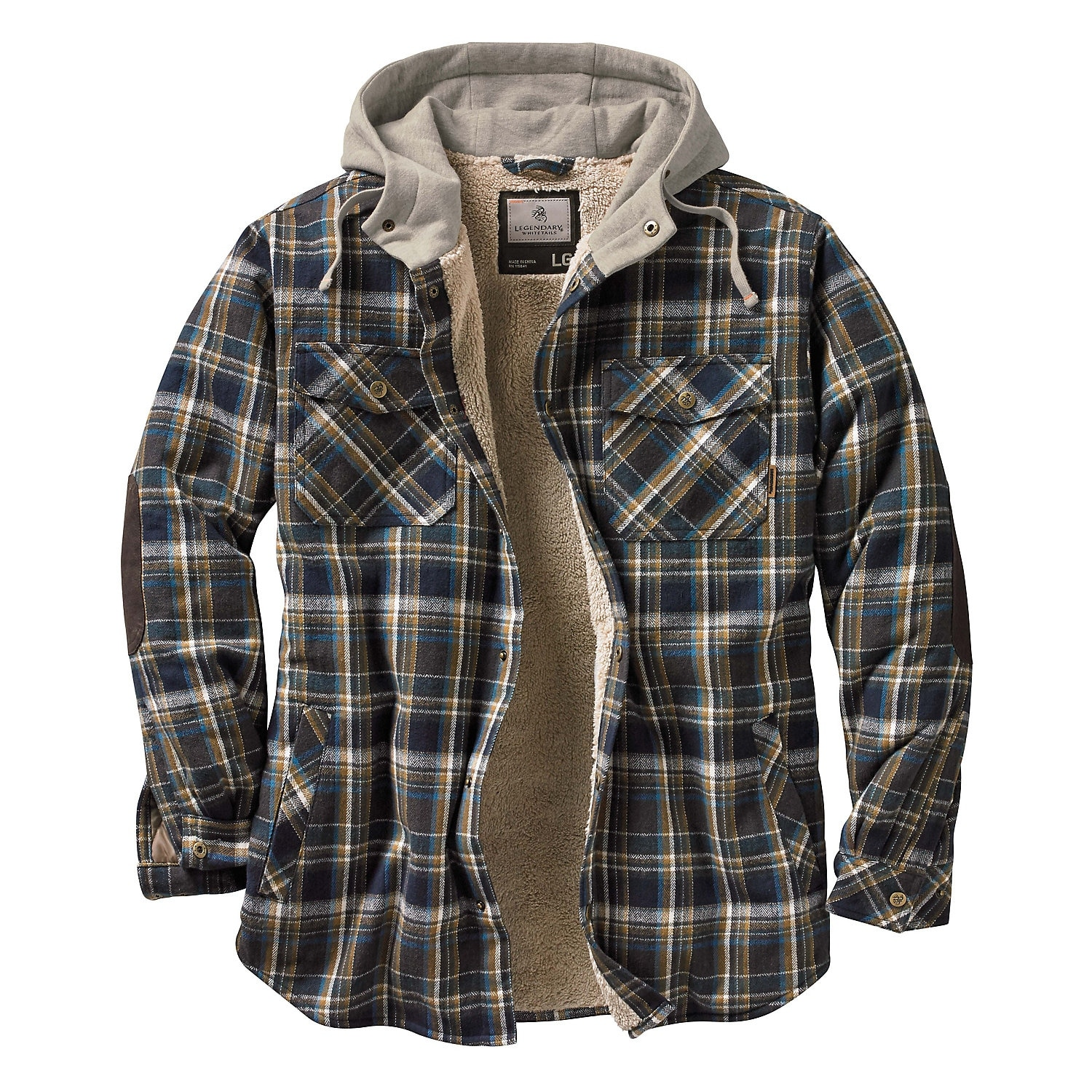 Legendary whitetails mens camp night berber lined hooded flannel legendary whitetails mens camp night berber lined hooded flannel free shipping today overstock 20077163 jeuxipadfo Images