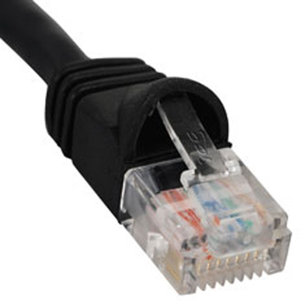 Icc Icpcsj10bkm Patch Cord Cat 5e Molded Boot 10 Bk Free Cords Outdoor Cables Cat5e Shipping On Orders Over 45 22080726