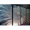 Statements2000 Modern Silver Metal Wall Art Sculpture by Jon Allen - Static