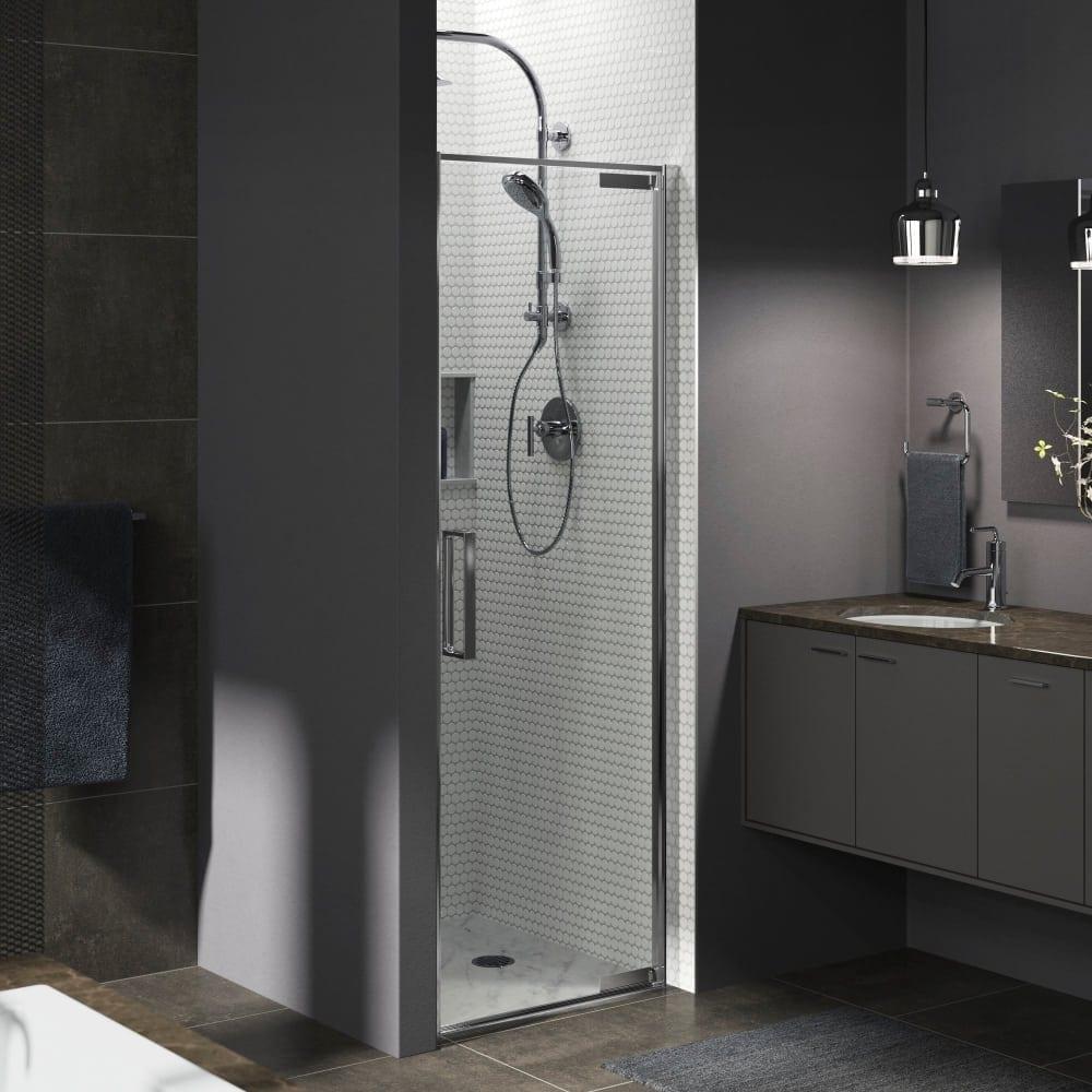 Shop Kohler K 706075 L Torsion 30 Three Wall Alcove Pivot Shower