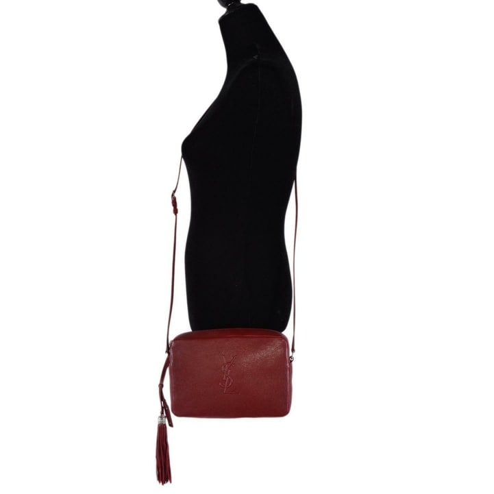 278db2fa2a62d Shop Saint Laurent YSL 470299 LOU Red Leather Camera Bag Crossbody Purse  Handbag - On Sale - Free Shipping Today - Overstock - 26885857
