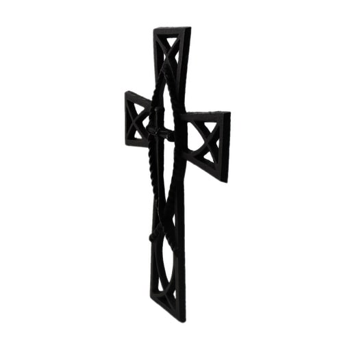 Shop Set of 3 Rustic Brown Cast Iron Decorative Wall Crosses - Free ...