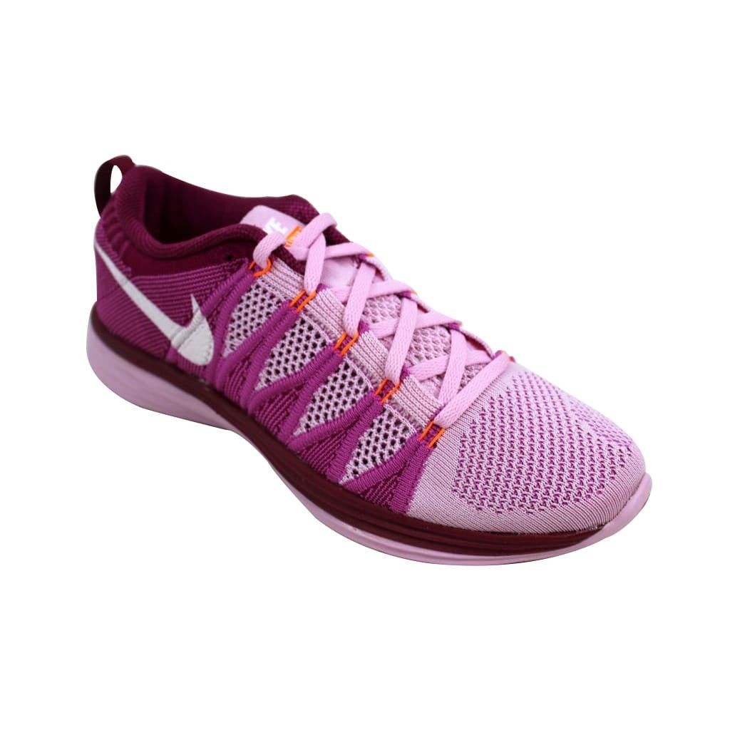 25d8be1a7f40 Shop Nike Women s Flyknit Lunar2 Light Arctic Pink White-Red  Velvet-Raspberry 620658-615 - Free Shipping Today - Overstock - 24122928