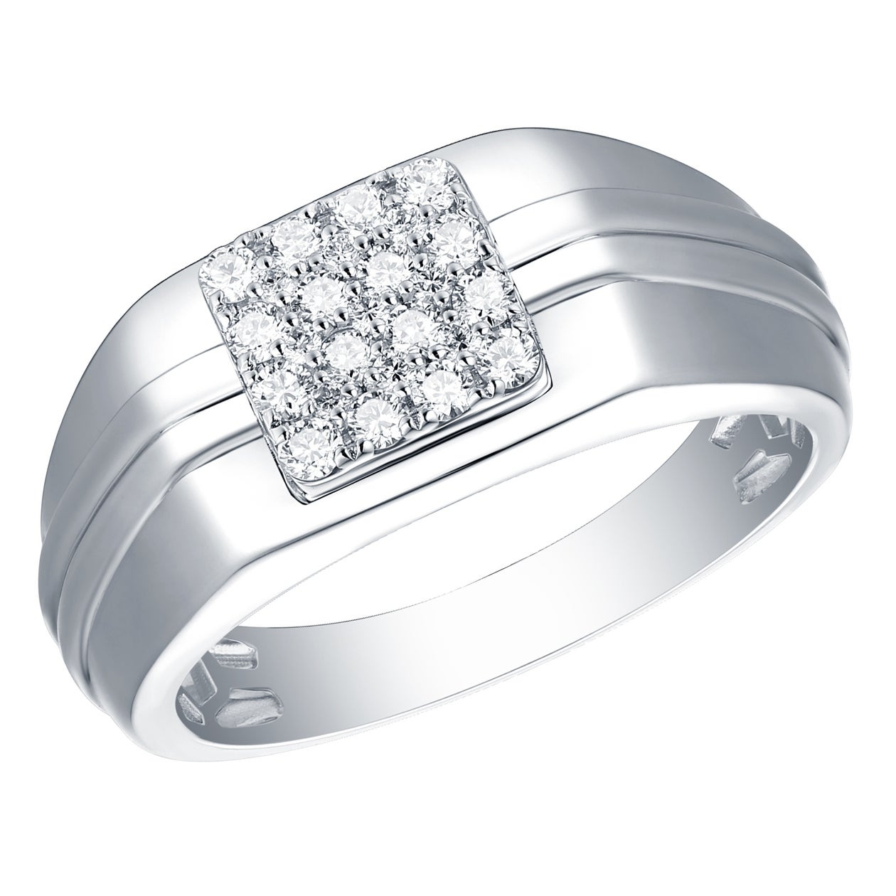Shop Prism Jewel 0 46ct Round G H I1 Natural Diamond Men S Wedding