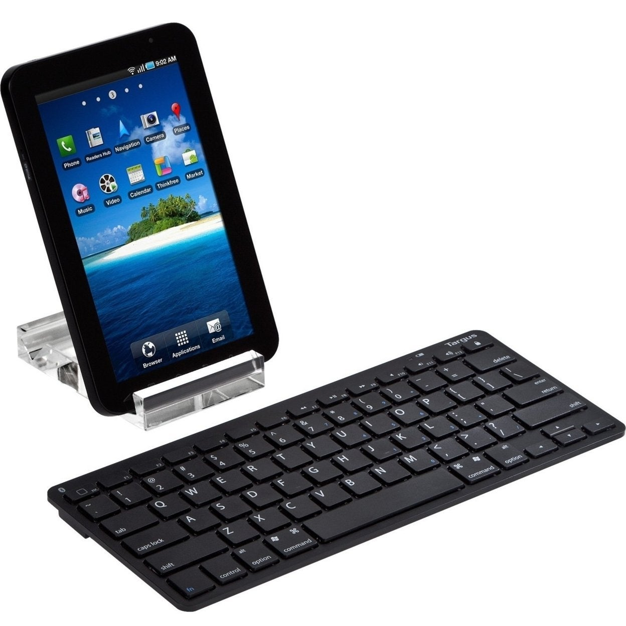 0e38bcd10ea Shop Targus Bluetooth Wireless Keyboard for Tablets AKB33US, Black ...