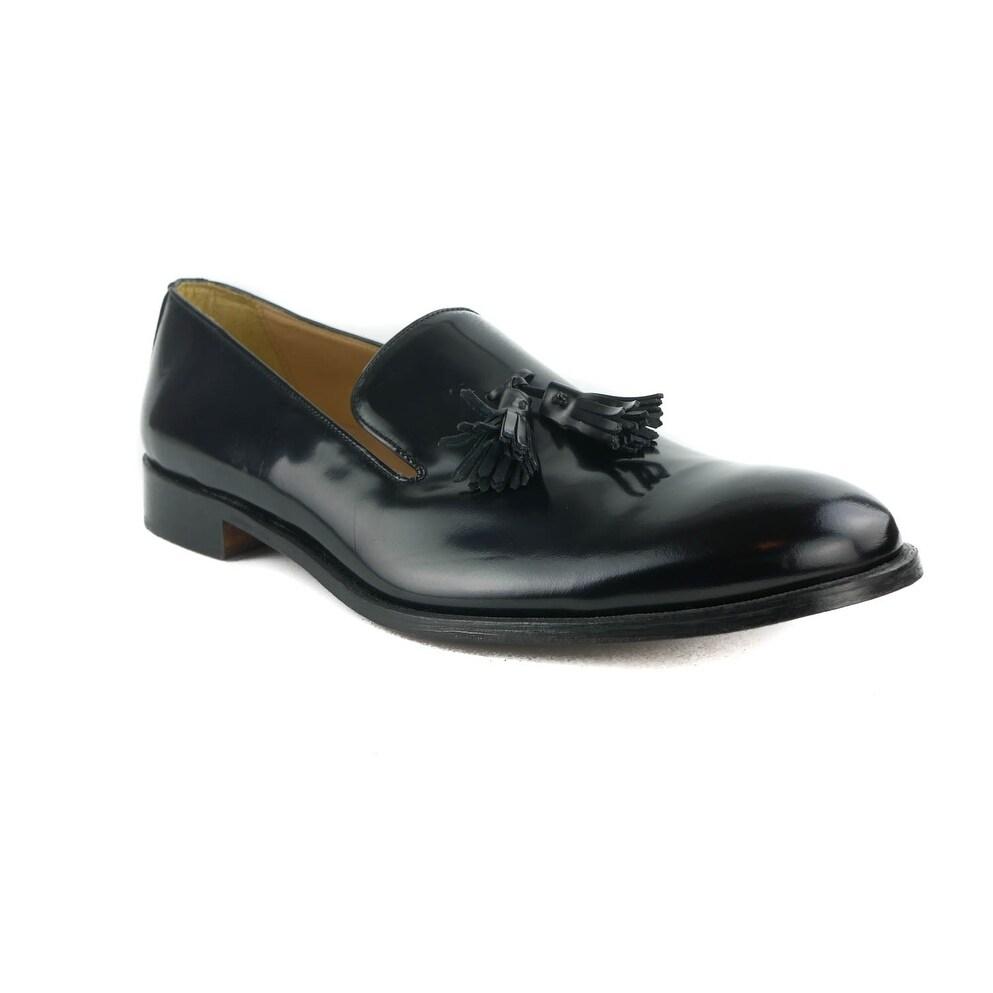 e8f03c2c06c Shop Cantarelli Mens Black Patent Leather Tassel Loafers - Free ...
