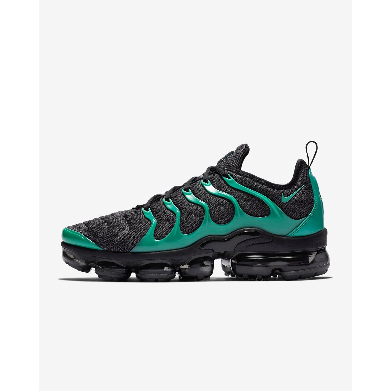 00566a0a43 Shop Nike Air Vapormax Plus Black/Clear Emerald-Cool Grey (924453 013) -  Ships To Canada - Overstock - 25772063