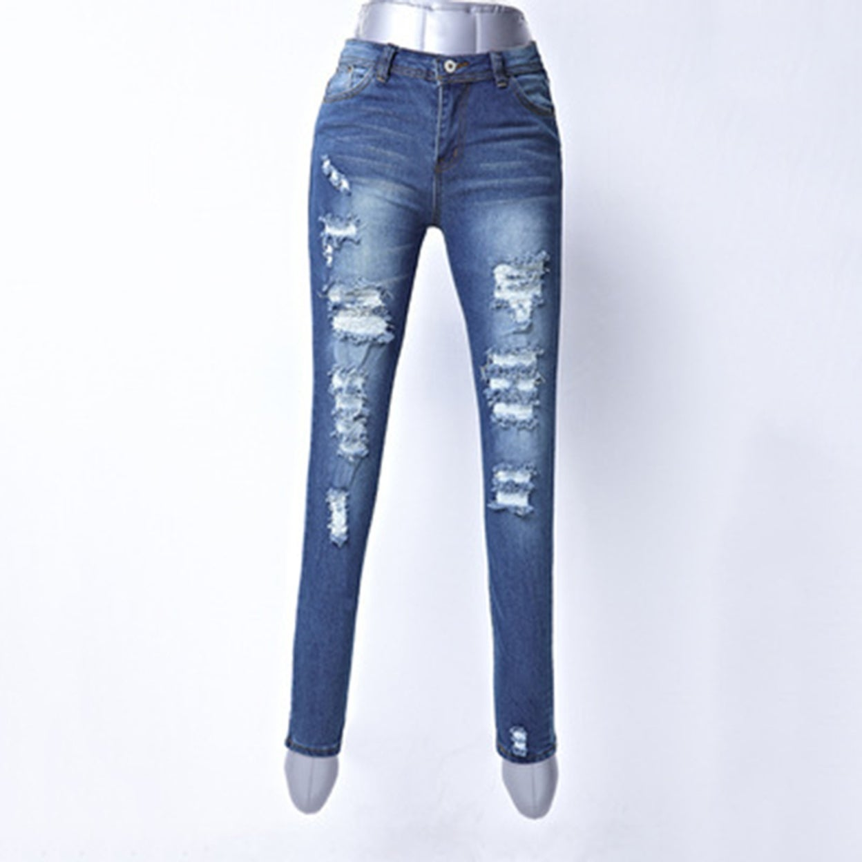 1cf20cafead7 Shop Ladies hot Ripped Jeans Casual Elastic Denim Slim Pencil Long Pants  Gift - Free Shipping On Orders Over $45 - Overstock - 23167990