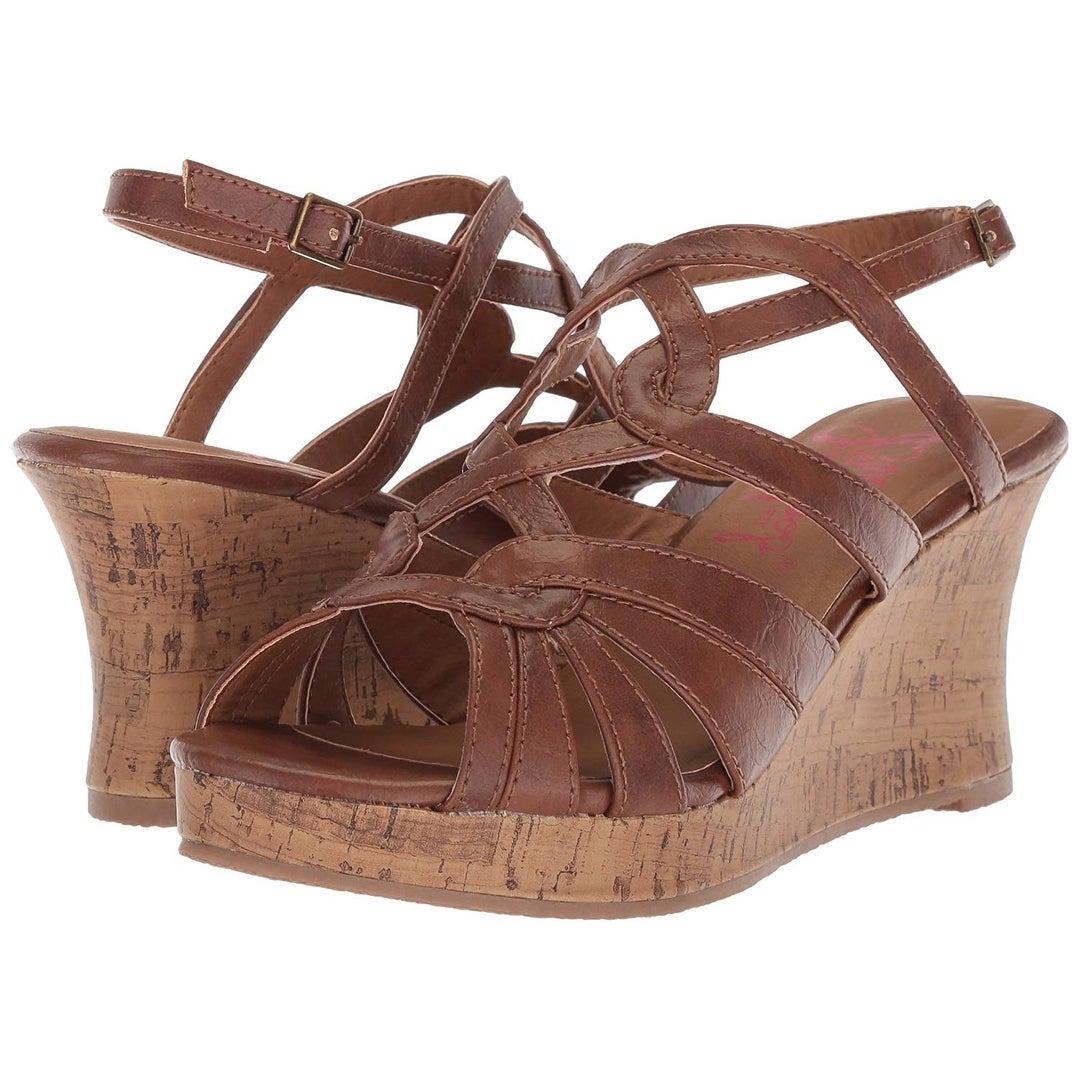 7481c580db Shop Jellypop Women's Alabama Wedge Sandal, Cognac, 7 Medium Us - Free  Shipping Today - Overstock - 25592144