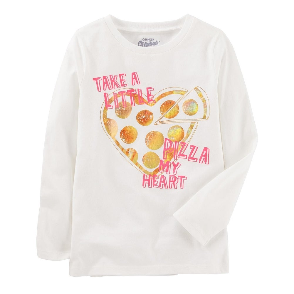aa941fe3 Shop OshKosh B'gosh Little Girls' Graphic Tee, Pizza My Heart, 5 Kids -  Free Shipping On Orders Over $45 - Overstock - 22311964