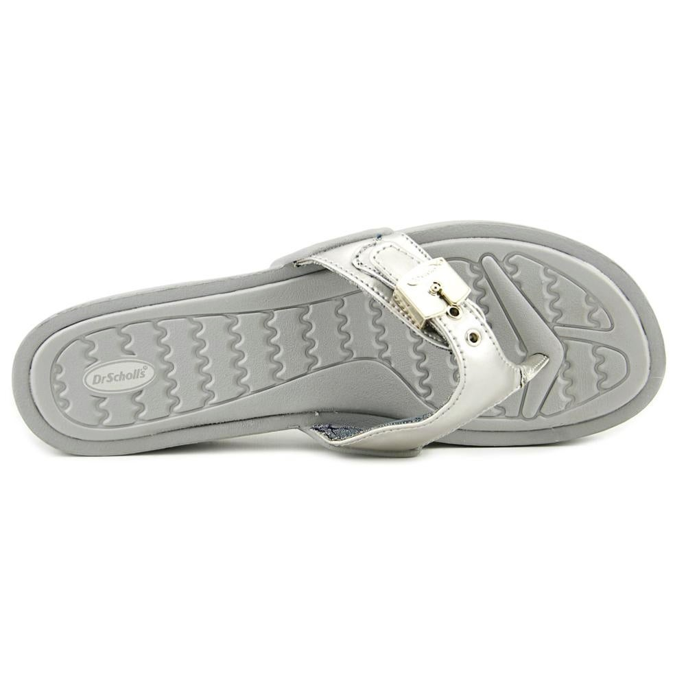 c67e639c639 Shop Dr. Scholl s Roll Women Open Toe Synthetic Silver Thong Sandal - Free  Shipping On Orders Over  45 - Overstock - 19559956