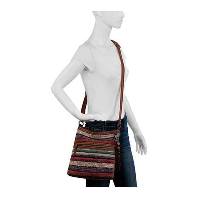 Shop THE SAK Women s Lucia Crochet Crossbody Vagabond Stripe - US Women s  One Size (Size None) - Free Shipping Today - Overstock - 16569724 8dbc6a2506669
