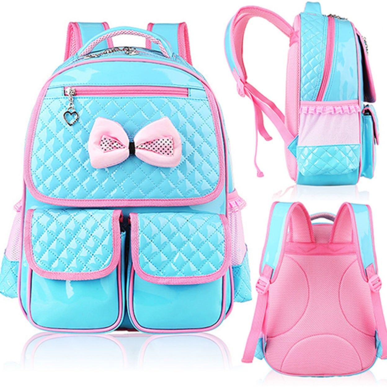 30515308d6 Shop Kid Girls Princess Backpack Cute Bowknot Faux Leather Book Storage School  Bag - Free Shipping On Orders Over  45 - Overstock - 23174857