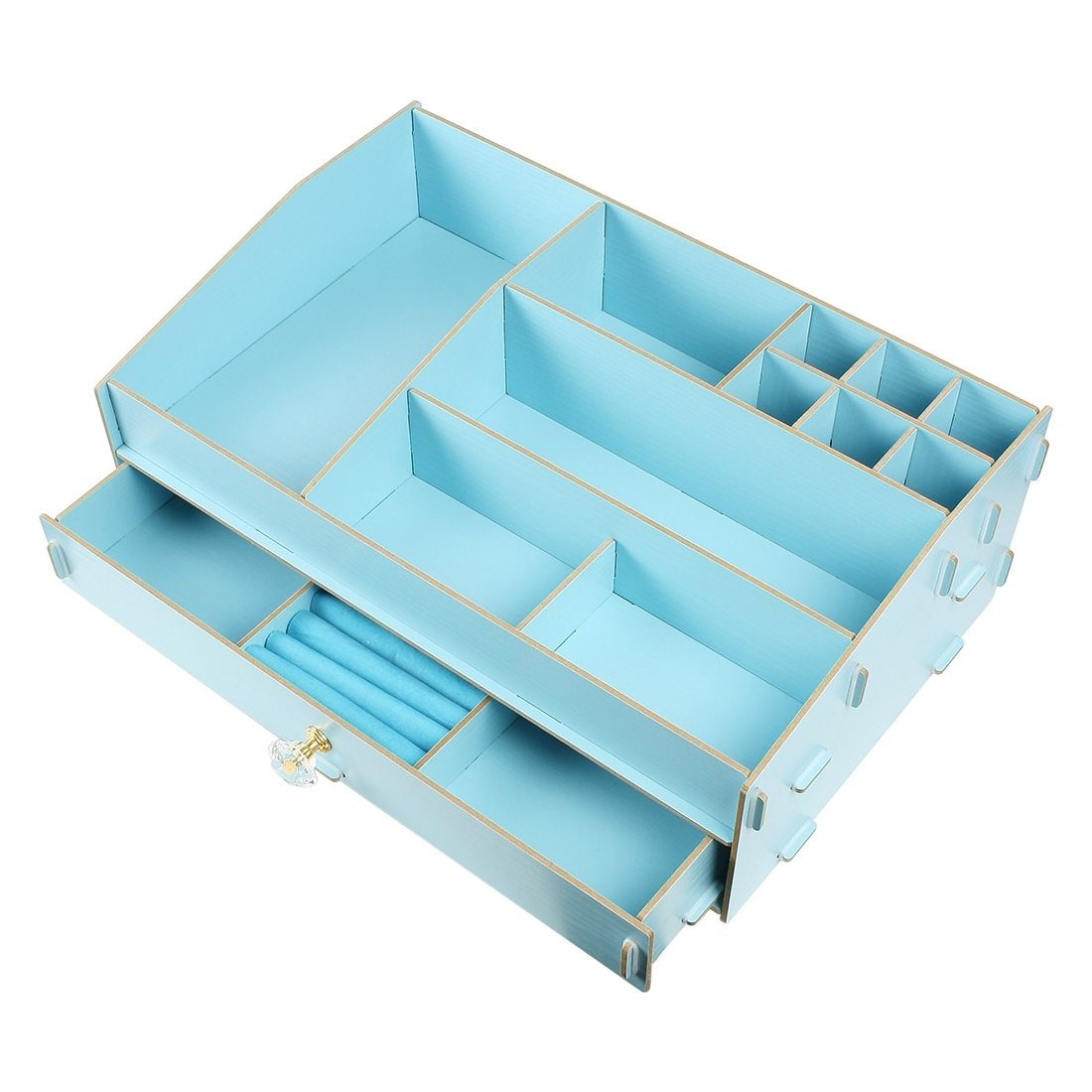 Shop Unique Bargains Desktop Storage Box Cosmetic Organizer DIY ...