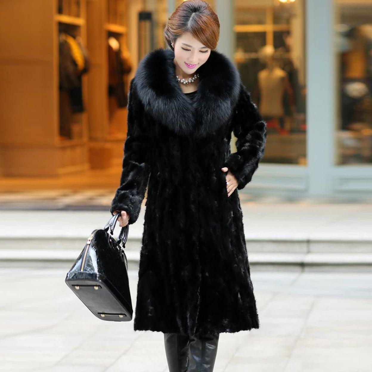 97d493f02 Womens Winter Warm Long Coat Jacket Faux Fur Plus Size Parka Outwear  Cardigan