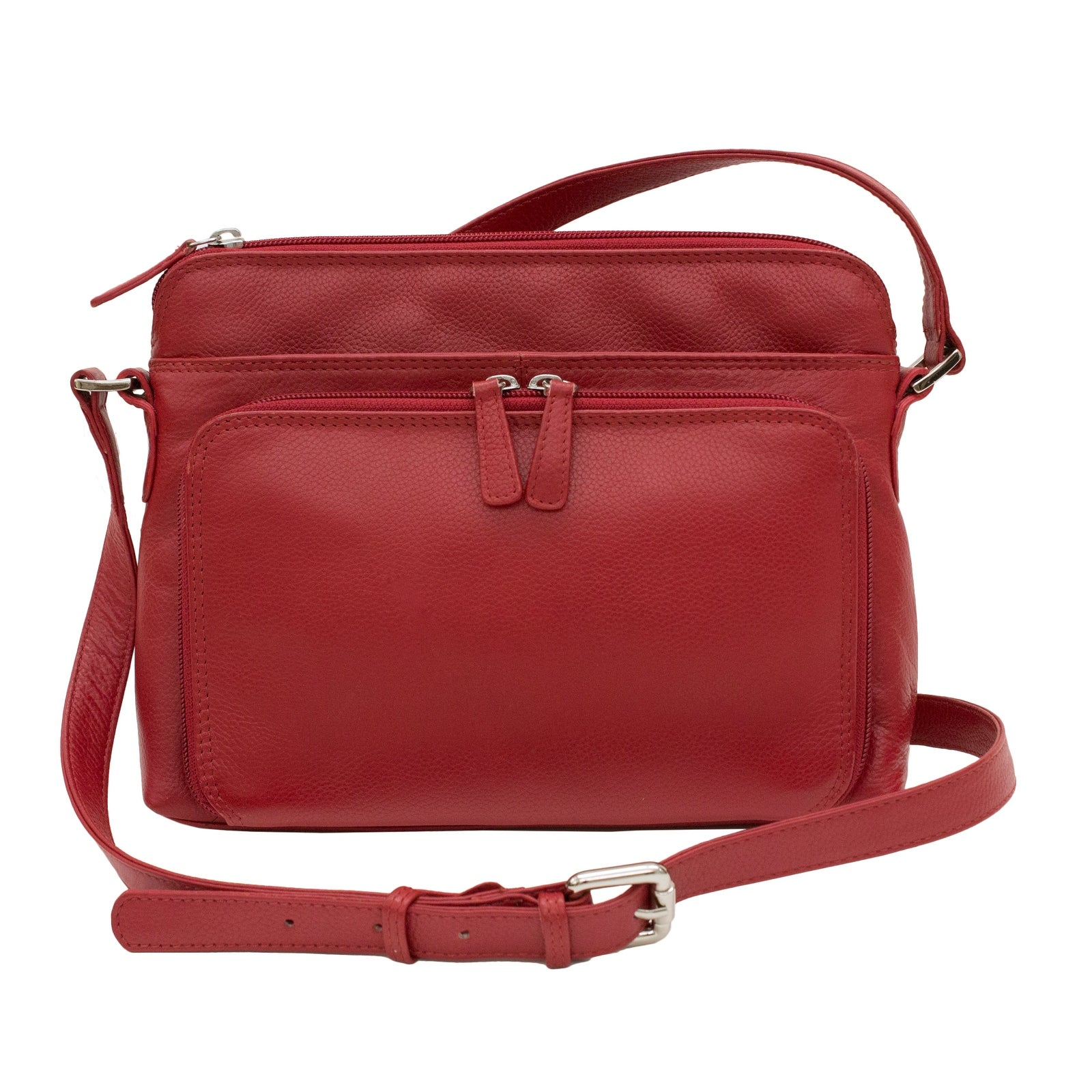Ctm Women S Leather Shoulder Bag Purse With Side Organizer One Size Free Shipping Today 18506861