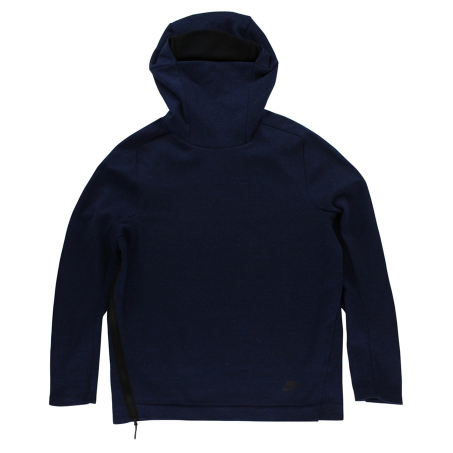 f55439db99b3 Shop Nike Mens Tech Fleece Funnel Neck Hoodie Heather Navy - heather  navy black - L - Free Shipping Today - Overstock - 22545156