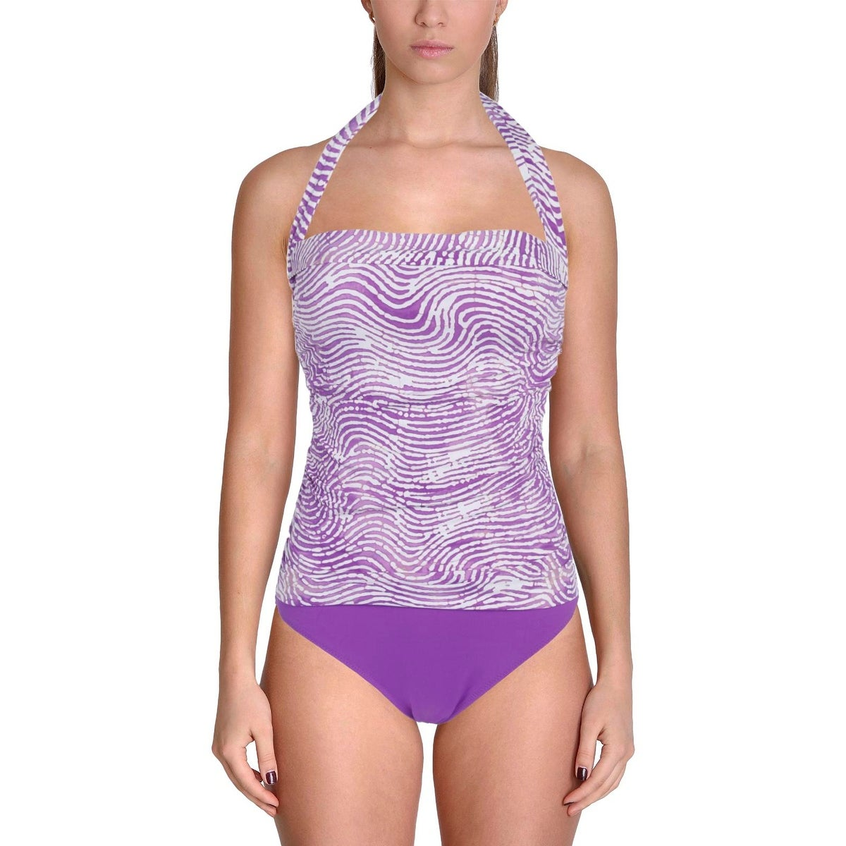 Shop Leilani Womens Divine Printed Square Neck One-Piece Swimsuit - Free  Shipping On Orders Over $45 - Overstock.com - 20521074
