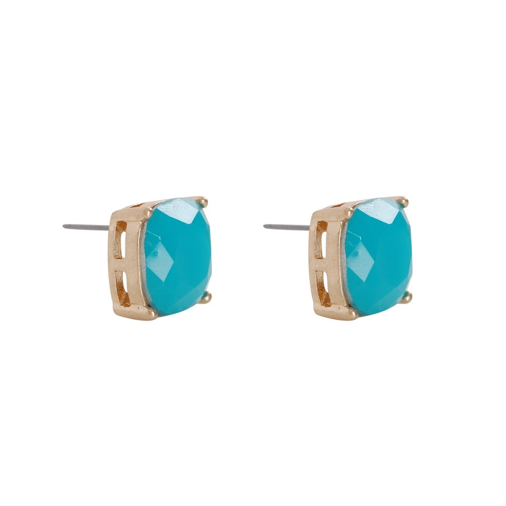 a9a94f862 Shop Humble Chic Faceted Glitter Square Stud Earrings Cushion Cut Statement  Post Ear Studs - On Sale - Free Shipping On Orders Over $45 - Overstock -  ...