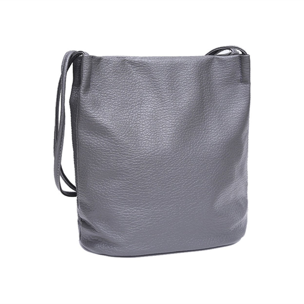 f9123c5d4bc Women Leather Handbags Black Bucket Shoulder Bags Ladies Cross Body Bags