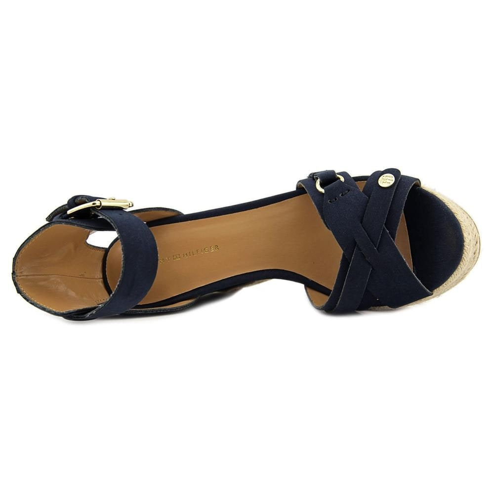 e4d9d7f3db7 Tommy Hilfiger Velvet 2 Women Open Toe Synthetic Wedge Sandal