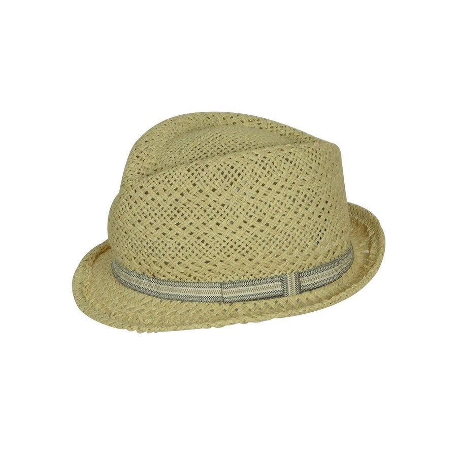 0312c0e82d9 Shop August Accessories Women s Woven Rock This Fedora Hat - Brown - os -  Free Shipping On Orders Over  45 - Overstock.com - 19753642