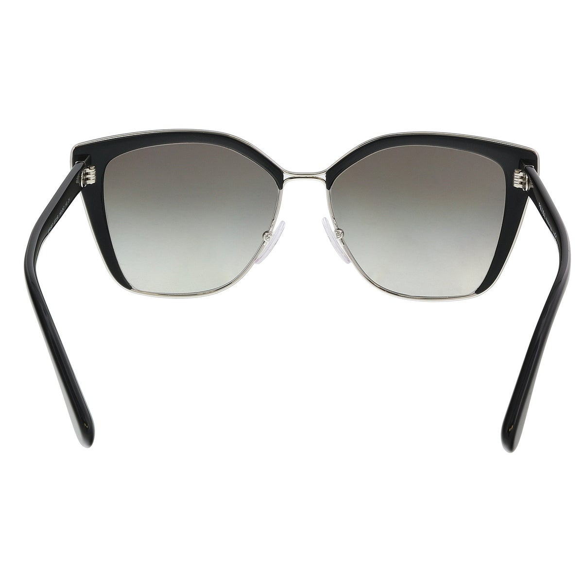 d85393fdc595 Shop Prada PR 56TS 1AB0A7 Black   Silver Cat eye Sunglasses - 57-16-140 - Free  Shipping Today - Overstock - 21158280