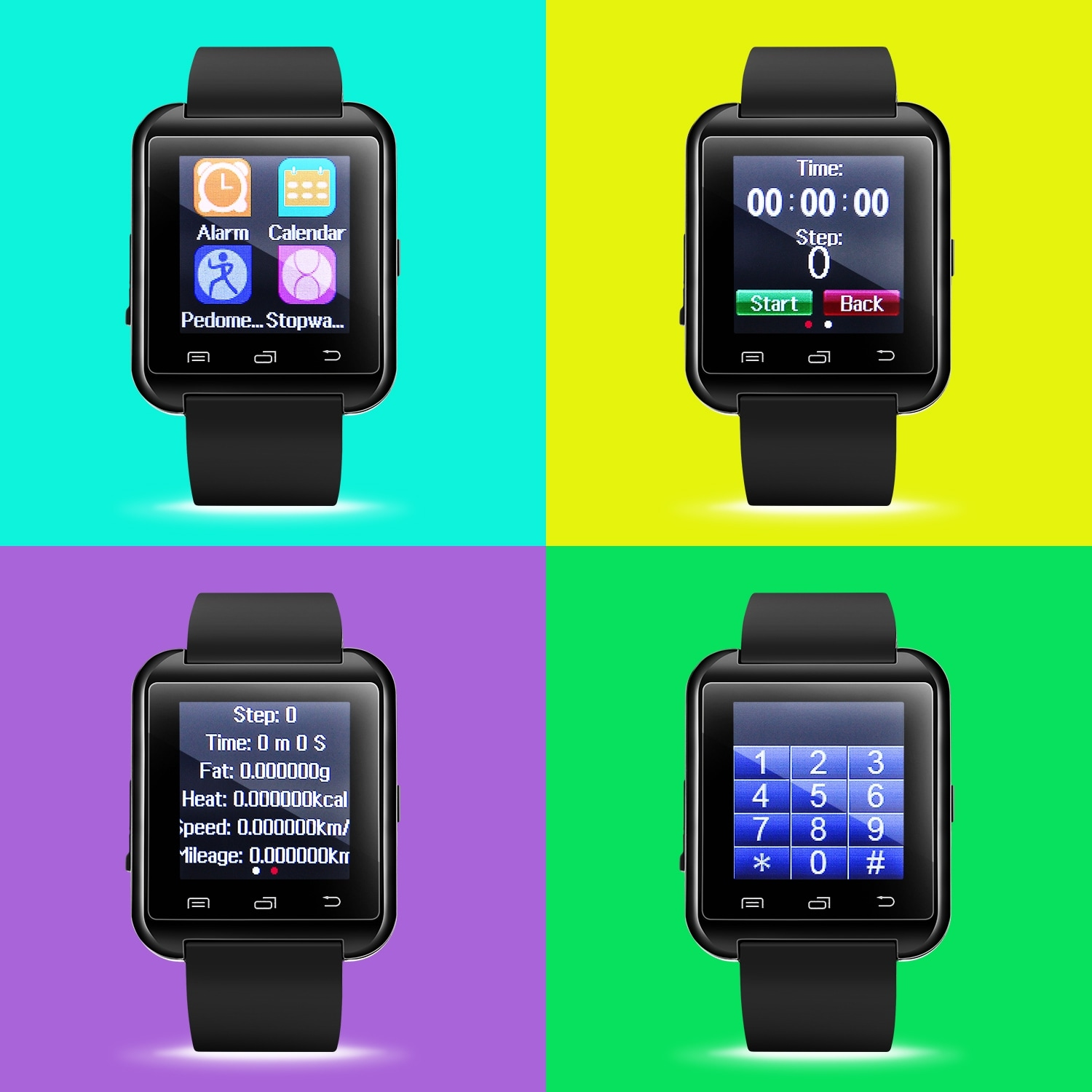 e8dc8516f Shop AGPtek Black U8 Bluetooth Smart Wrist Watch Phone Mate for Android  Samsung HTC LG (MTK chip) With Touch Screen - Free Shipping On Orders Over  $45 ...
