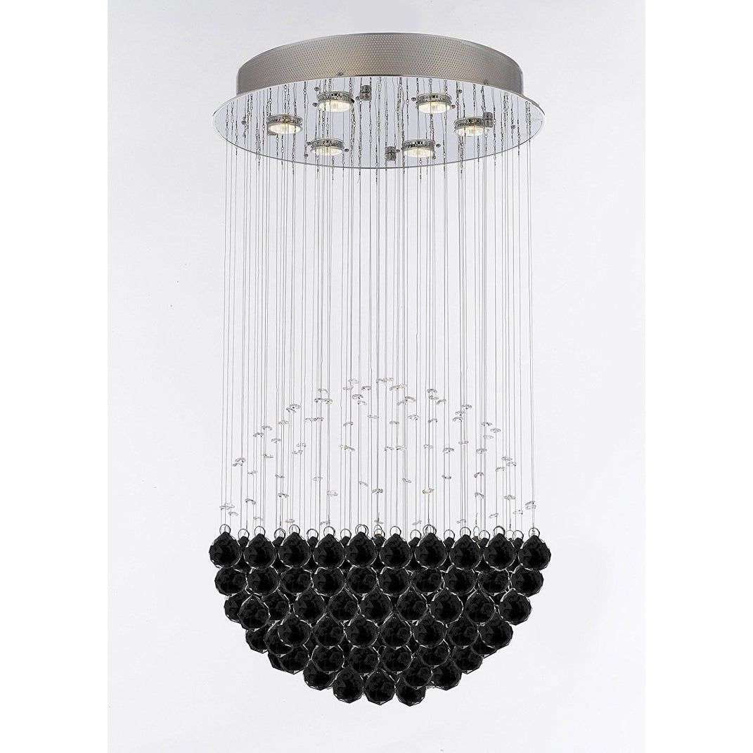 Modern crystal raindrop chandelier with 40mm crystal balls