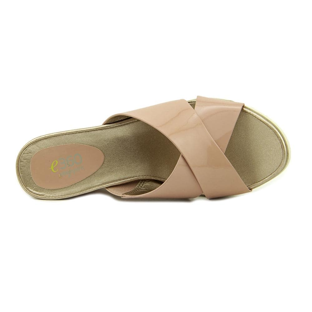 56c4b577494 Shop Easy Spirit e360 Hartlyn Women Open Toe Patent Leather Pink Slides  Sandal - Ships To Canada - - 14746418