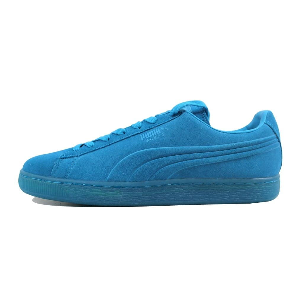 0ebcd426579 Shop Puma Men s Suede Emboss Iced Fluo Atomic Blue 361881 03 - On Sale -  Free Shipping On Orders Over  45 - Overstock - 22919282