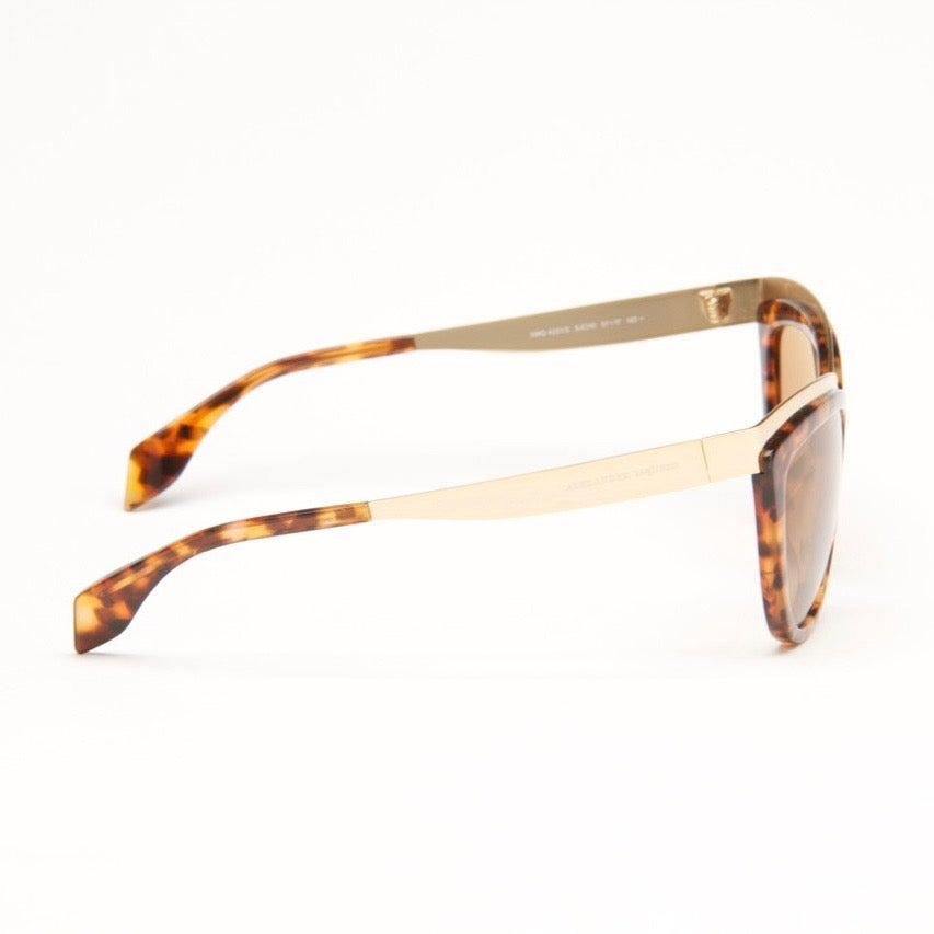 5bfdf4507a Shop Gold Havana Cat Eye Sunglasses - Free Shipping Today - Overstock.com -  12556115
