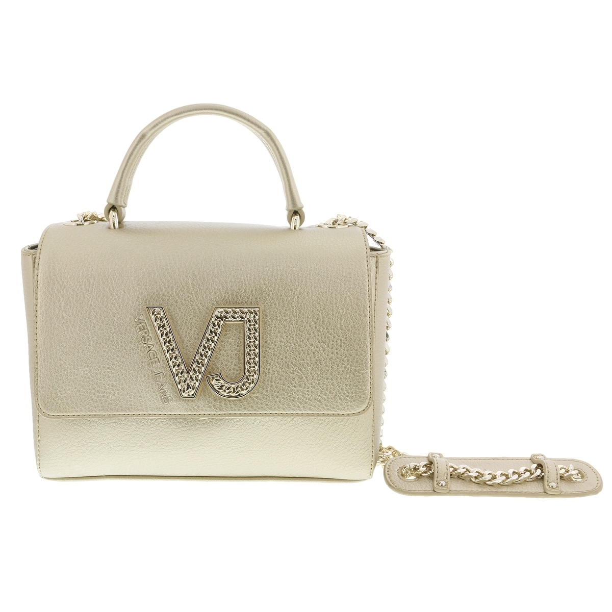 8054a32fae Shop Versace EE1VRBBC6 Gold Top Handle Bag - 9-7.5-4.5 - Free Shipping  Today - Overstock - 20223878