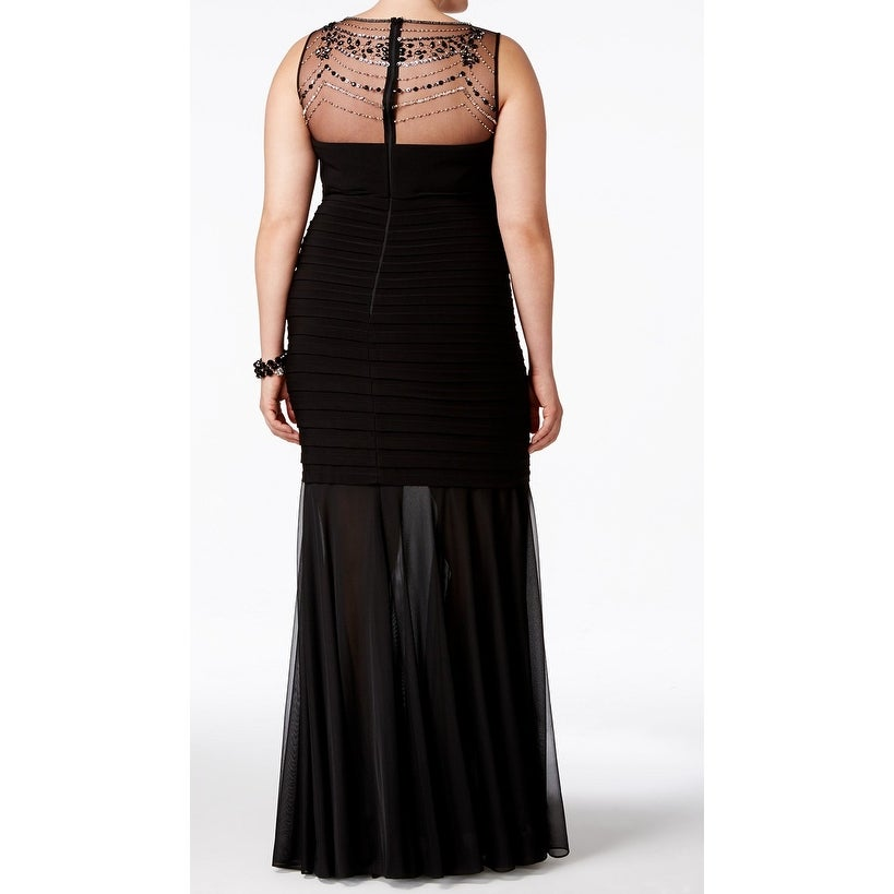 0e84d949d05 Shop Xscape Womens Plus Beaded Illusion Mermaid Gown - On Sale - Free  Shipping Today - Overstock - 27024259