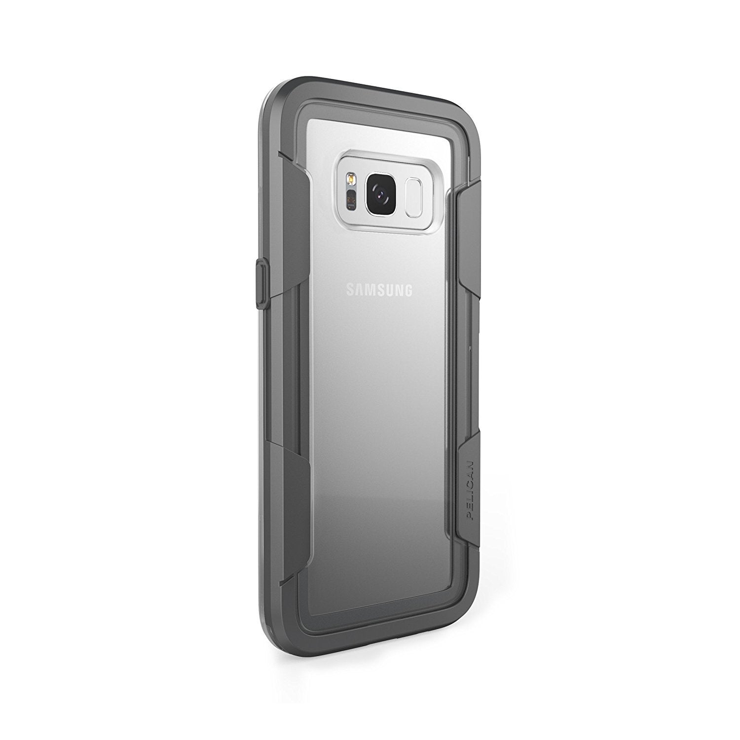 best loved 28d8a 9fe4a Pelican Voyager Samsung Galaxy S8 Plus Case - Clear/Grey