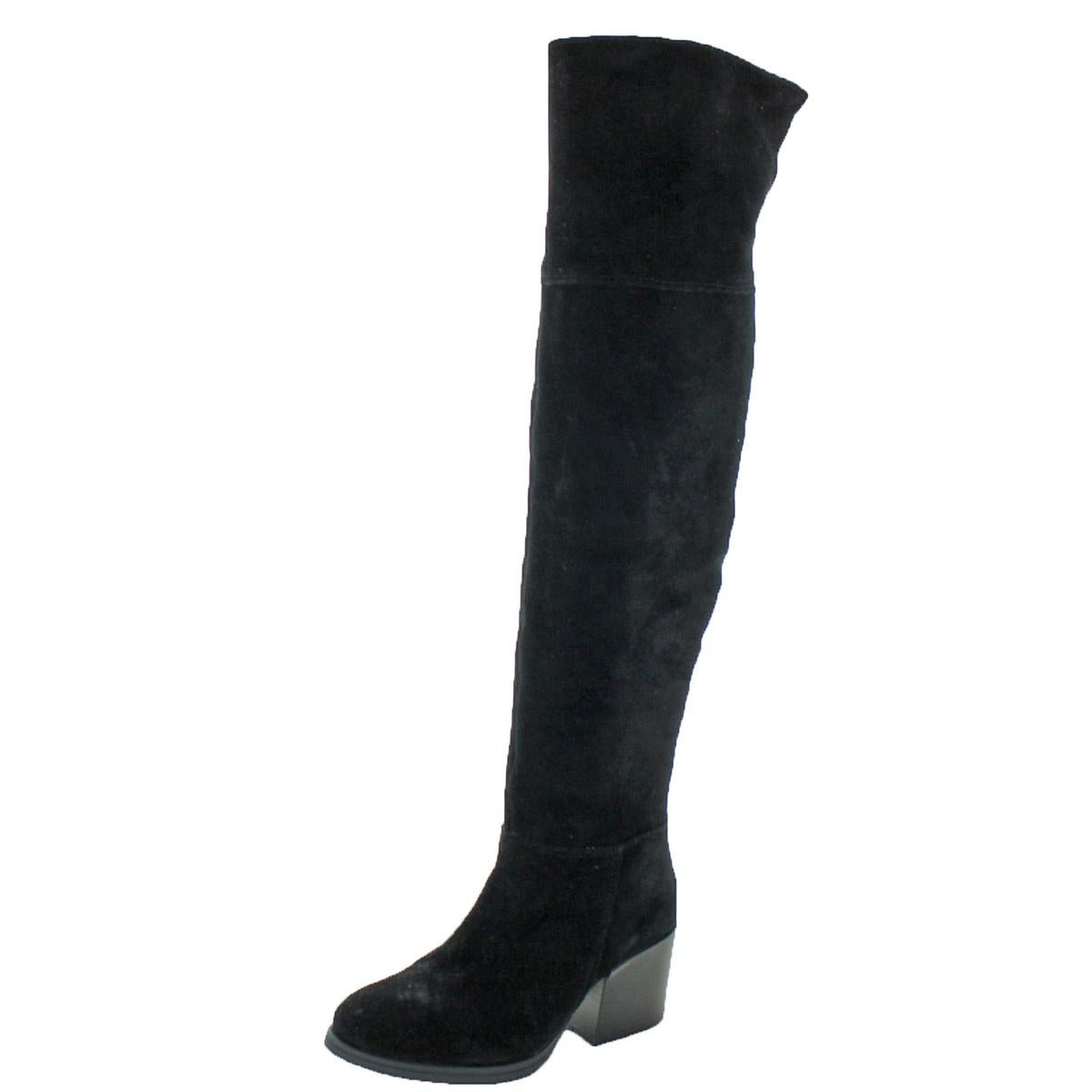 2b174a5bf9c Shop Steve Madden Womens Orabela Knee-High Boots Suede Block Heel - Free  Shipping Today - Overstock - 19989449