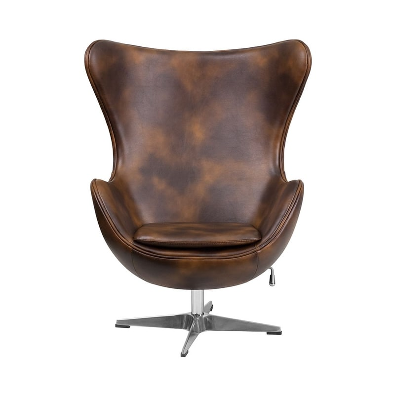 Merveilleux Shop Offex Bomber Jacket Leather Egg Chair With Tilt Lock Mechanism   Free  Shipping Today   Overstock.com   17999003